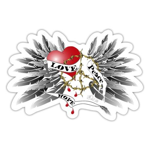 Love, Peace and Hope - Liebe, Frieden, Hoffnung - Sticker
