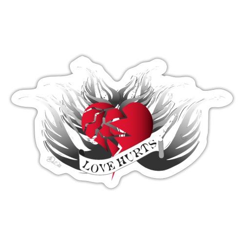Love Hurts - Liebe verletzt - Sticker