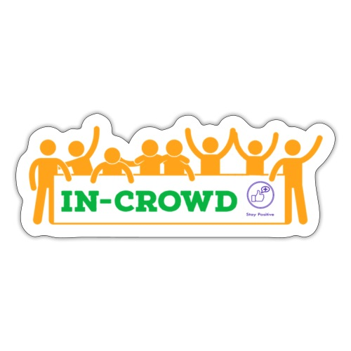 In-crowd (orange) - Sticker