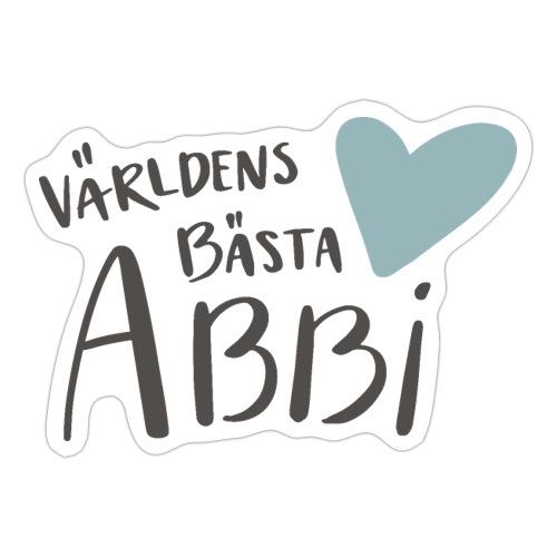 Världens bästa Abbi - Klistermärke