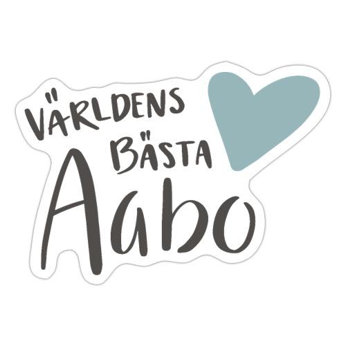 Världens bästa Aabo - Klistermärke