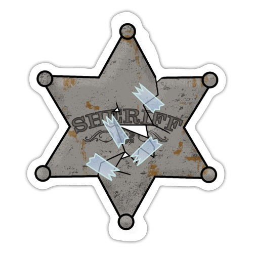 Rusty Sheriff's Badge Sticker - Sticker