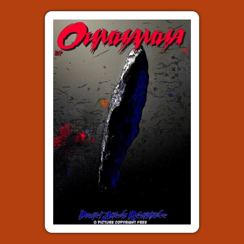 Oumuamua - Autocollant