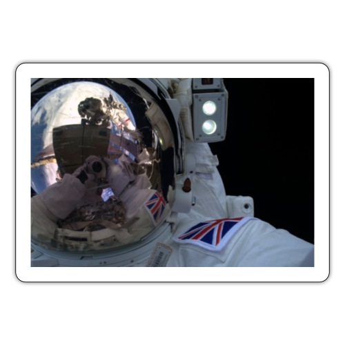 UK Astronaut Visor Down Tim Peake - Sticker