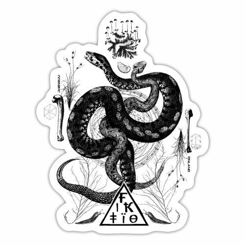 Fiktio käärmeprintti musta - Tarra