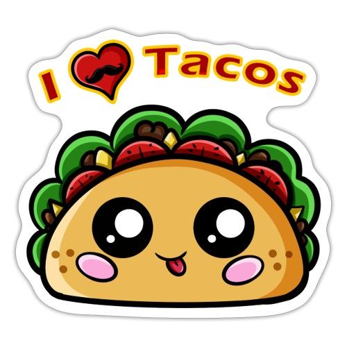I Love Tacos - Autocollant