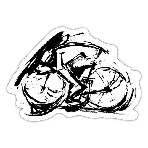 futuristischer radfahrer - Sticker