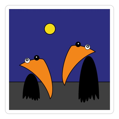 Raving Ravens - halloween - Sticker