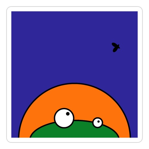 Hungry Frog - ready for dinner - Sticker