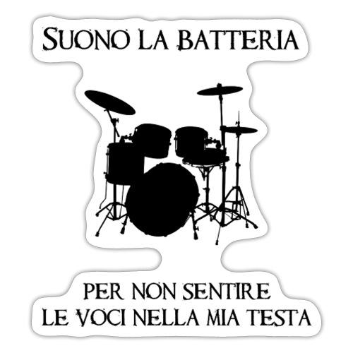 Batterista - Adesivo