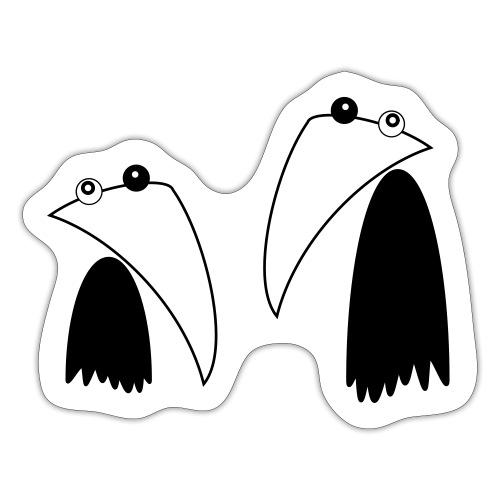Raving Ravens - black and white 1 - Sticker