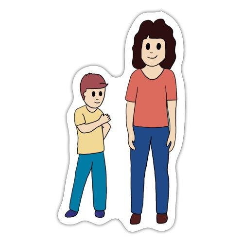 Kind geeft uitleg aan moeder - Sticker