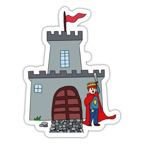 Ridder en kasteel - Sticker