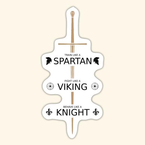 Spartan Viking Knight SCHWARZ - Sticker