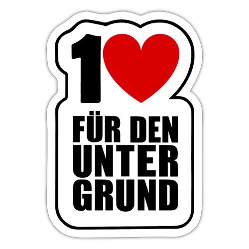 1 Herz für den Untergrund - Original Logo - Sticker