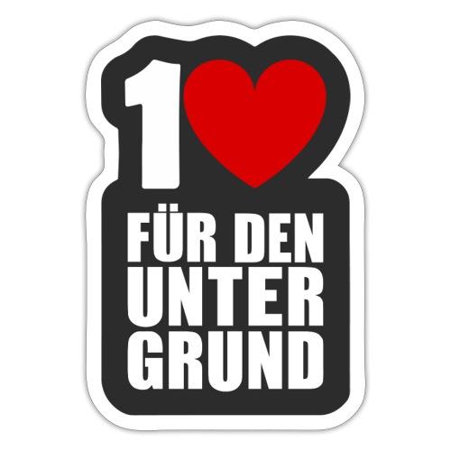 1 Herz für den Untergrund - Logo grau - Sticker