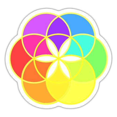 Graine de vie multicolore Omraam - Autocollant