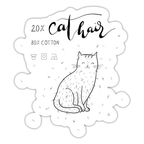 20% Cat Hair - Sticker