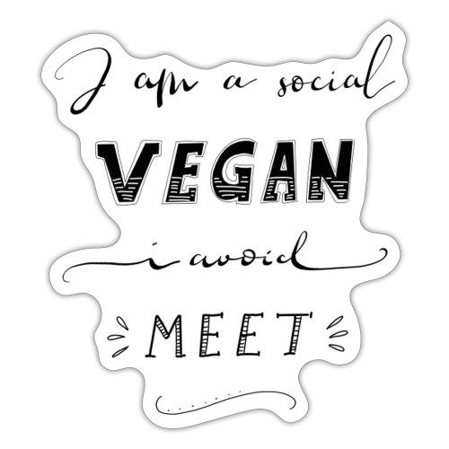Social Vegan - Sticker