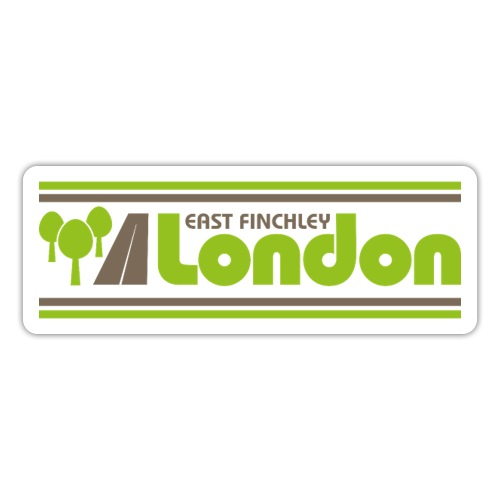 East Finchley London 80s style logo - Sticker