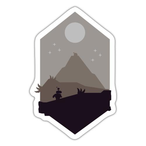 Mountain silhouette - Klistremerke