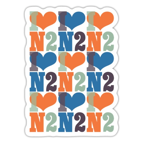 East Finchley I Love N2 pattern - Sticker