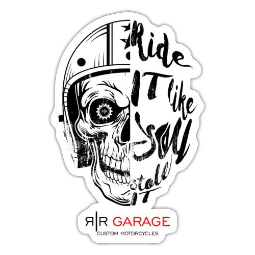 RR Garage Skull rider - Adesivo