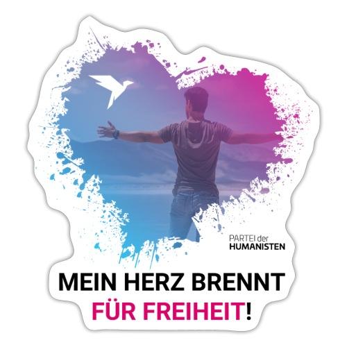 Mein Herz brennt für Freiheit! - Sticker