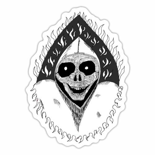 Grimp reaper blank text black & white - Autocollant