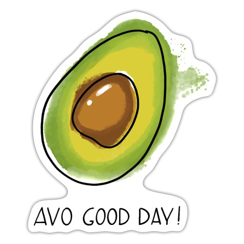 Fruit Puns n°2 Avo Good Day, Avocado - Sticker