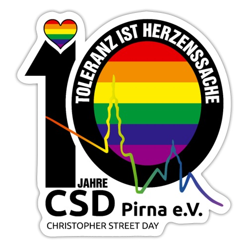 CSD Pirna 2021 Toleranz ist Herzenssache - Sticker