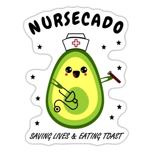 Sjuksköterska-Cado Räddar live och Äter Toast - Klistermärke