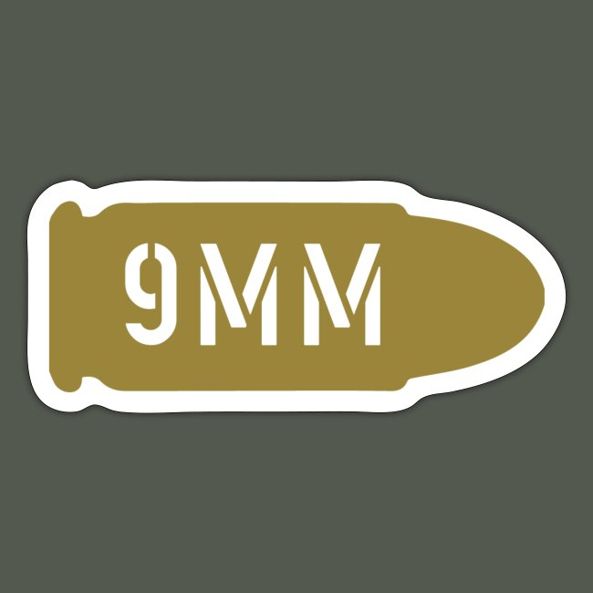 9mm decal