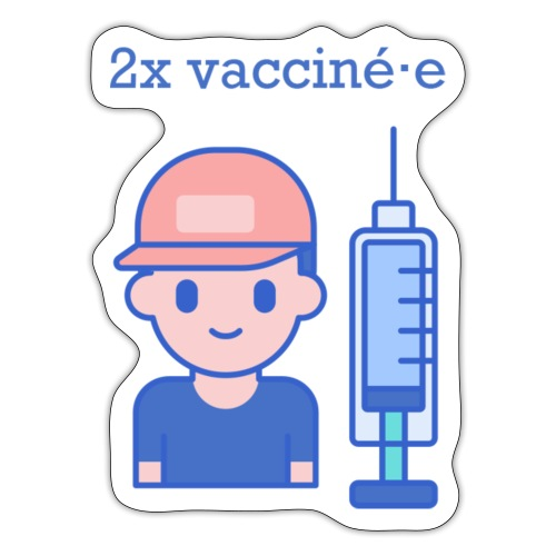 2x vacciné·e (FR) - Sticker