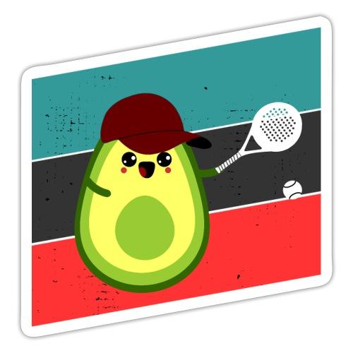 Avocado som spelar padeltennis - Klistermärke