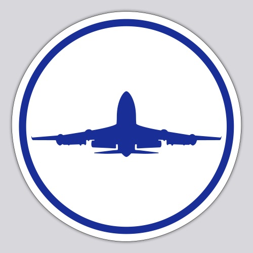 IVAO (symbole bleu) - Autocollant