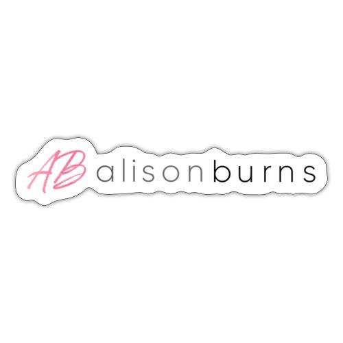 Alison Burns Signature Range - Sticker