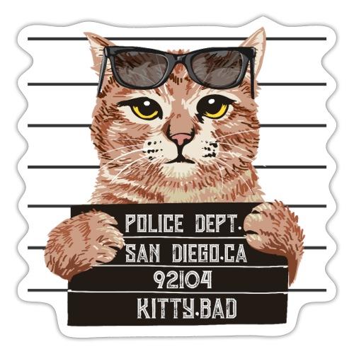 kitty bad - Autocollant