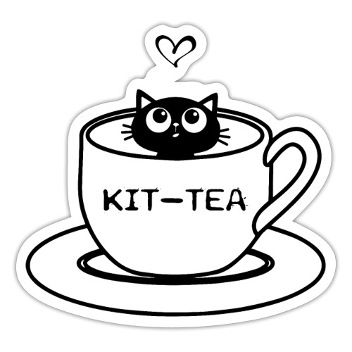 CAT TEA - Autocollant