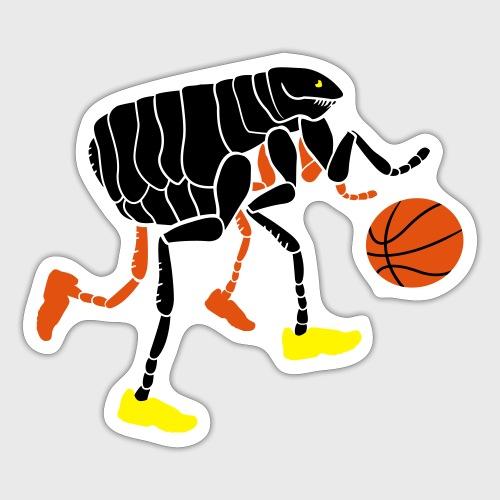 Puce qui joue au Basketball - Autocollant