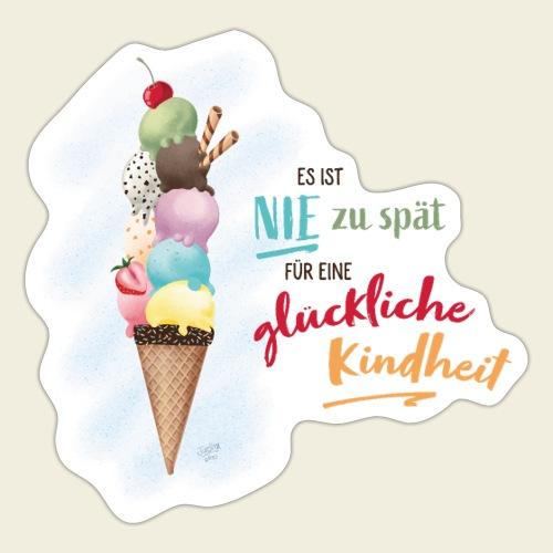 Eis - glückliche Kindheit - Sticker