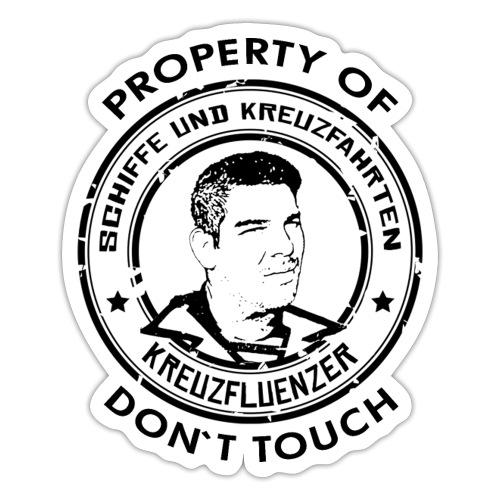 Property of your Highness RUND Black - Sticker