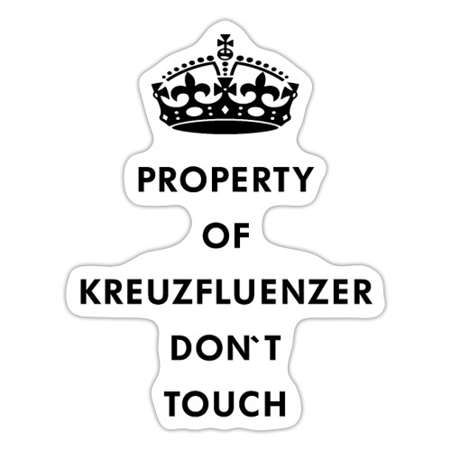 Kreuzfluenzer Don´t Touch Black - Sticker