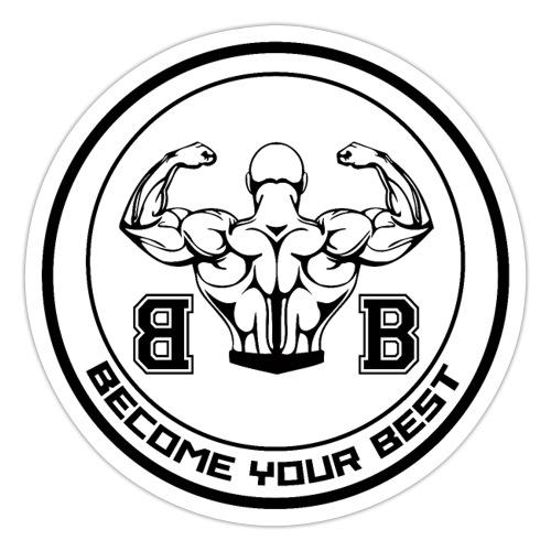 BYB logo black - Sticker