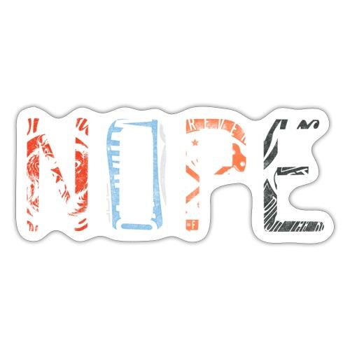 74 nope - Sticker