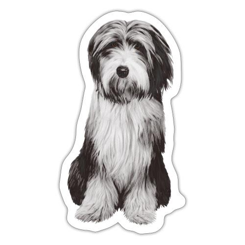 Bearded collie - Klistermärke