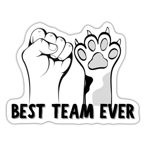 The Best Team Ever My And My Cat - Recxoo.com - Sticker