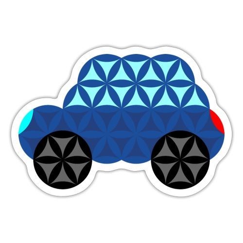 The Car Of Life - M02, Sacred Shapes, Blue/286 - Sticker