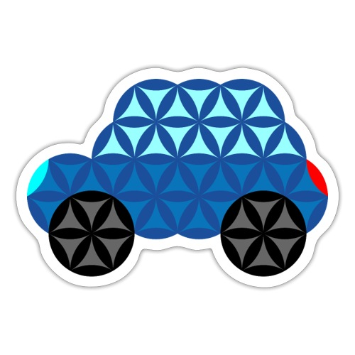 The Car Of Life - M01, Sacred Shapes, Blue/286 - Sticker