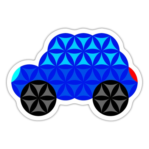The Car Of Life - M01, Sacred Shapes, Blue/R01. - Sticker